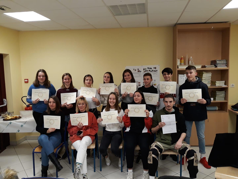 lauréats 2019 brevet, collège Sacré Coeur d' Amancey